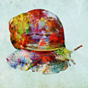 Colorful Snail Art  Poster