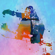 Colorful Snowboarder Paint Splatter Poster