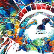 Colorful Statue Of Liberty - Sharon Cummings Poster