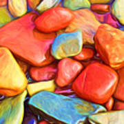 Colorful Stones Poster