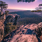 Colorful Sunset At Hanging Rock Poster