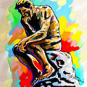 Colorful Thinker Poster