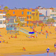 Colorful Venice Beach Poster
