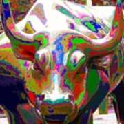 Colorful Wall Street Bull Poster