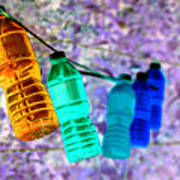 Colorful Water Bottles Poster