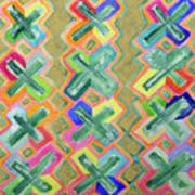 Colorful X-pattern  Poster