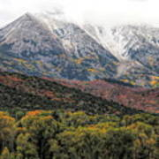 Colors Of Autumn On Mcclure Pass Poster