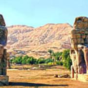 Colossi Of Memnon Poster