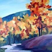 Colourful Autumn Poster by Carola Ann-Margret Forsberg