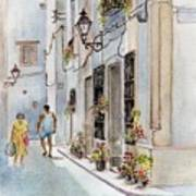 Colourful Corner In Spain Poster