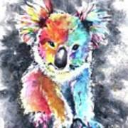 Colourful Koala Poster