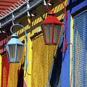 Colourful Lamps La Boca Buenos Aires Poster