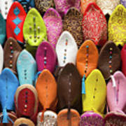 Colourful Morroccan Slipper Poster