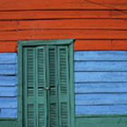 Colourful Shutters La Boca Buenos Aires Poster