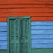 Colourful Shutters La Boca Buenos Aires Poster