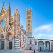 Colourful Siena Cathedral Poster