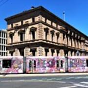 Colourful Tram At Old Treasury Building Poster