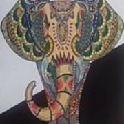 Colours In An Elephant Poster
