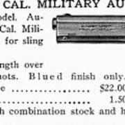 Colt .45 Automatic Pistol Poster