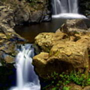 Columba River Gorge Falls 2 Poster