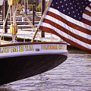Columbia From The Stern Poster
