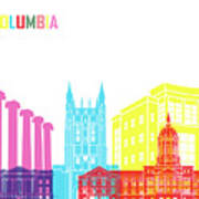 Columbia Mo Skyline Pop Poster