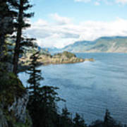 Columbia River Cliffside Poster