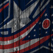 Columbus Blue Jackets Wood Fence Poster