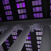 Column Stain Purple Poster