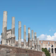 Columns Colosseum And Lamppost Poster