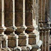 Columns Creating The Facade Of A Gothic-style Church Poster