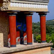 Columns Of Knossos Greece Poster