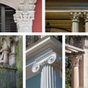 Columns Of New Orleans Collage 2 Poster