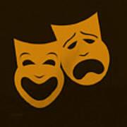 Comedy N Tragedy Black Orange Poster