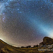Comet Lovejoy And Zodiacal Light Poster