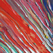 Comet Tail. Colorful Painter Palette. Exhausted Paint And Abstract Painting. Poster
