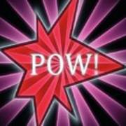 Comic Book Pow Poster