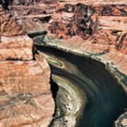 Coming Around Horseshoe Bend Page Arizona Colorado River  Poster