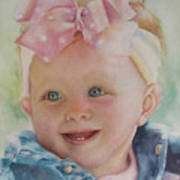 Commissioned Toddler Portrait Poster