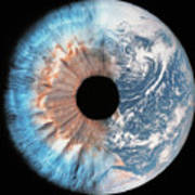 Composite Image Of The Earth And A Human Poster
