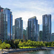 Condominium Waterfront Living In Vancouver Bc Poster