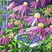 Coneflowers In Gentle Wind Poster