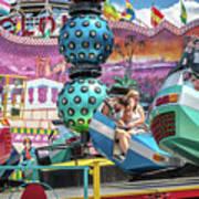 Coney Island Amusement Ride Poster
