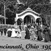 Coney Island In Cincinnati 1908 Poster