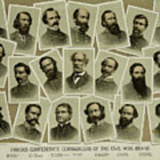 Confederate Commanders Of The Civil War Poster