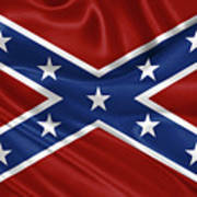 Confederate Flag - Second Confederate Navy Jack And The Battle Flag Of Northern Virginia Poster