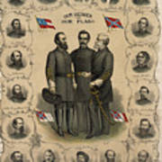 Confederate Generals Of The Civil War Poster by War Is Hell Store