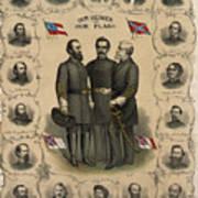 Confederate Generals Of The Civil War Poster