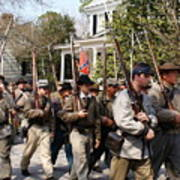 Confederate Soldiers Marching Poster