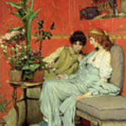 Confidences Poster by Sir Lawrence Alma-Tadema
